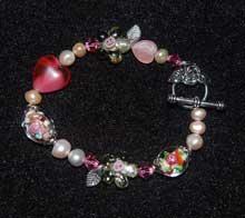 pinkflowerbeadbracelet