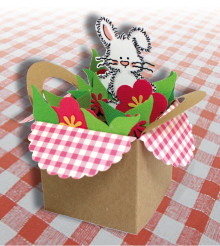 pop up basket card