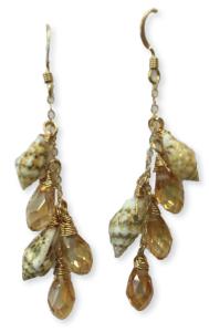 shell glam earrings
