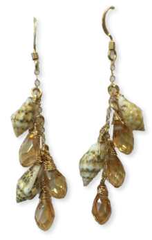 shell glam earrings