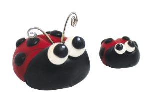 sculpey souffle ladybugs