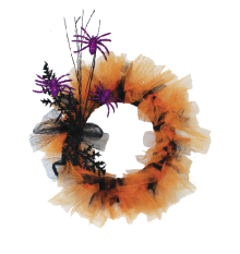 EZ Tulle wreath