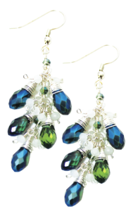 mistletoe earrings